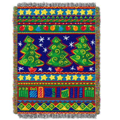 Nw Collection Tree Festivity Throw