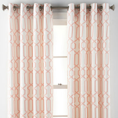 JCPenney Home Verona Trellis Grommet-Top Curtain Panel