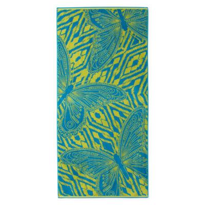 Outdoor Oasis Tahitian Butterfly Beach Towel