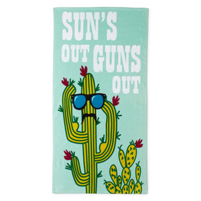 Outdoor Oasis Suns Out Guns Out Beach Towel