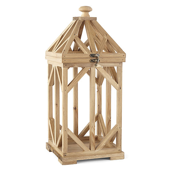 JCPenney Home Wood Decorative Lantern
