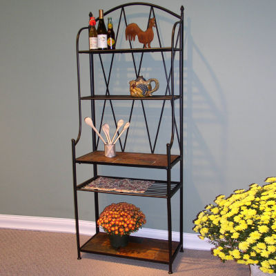 4D Concepts Baker'S Rack with Slate Top
