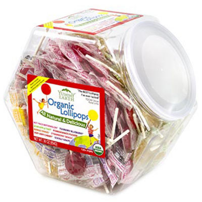 Organic Fruit Lollipops Jar 125 Count