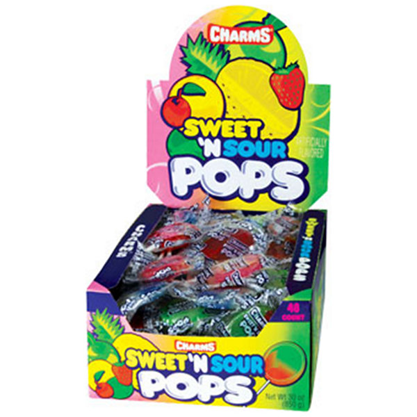 Charms Sweet & Sour Pop 48 Count
