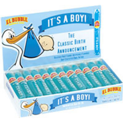 It's a Boy Blue Bubble Gum Cigar Box 36 Count