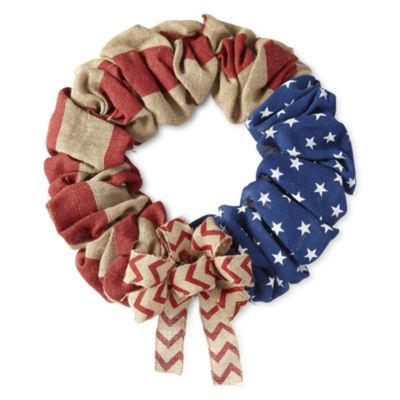 JCPenney Home Americana Burlap Wreath