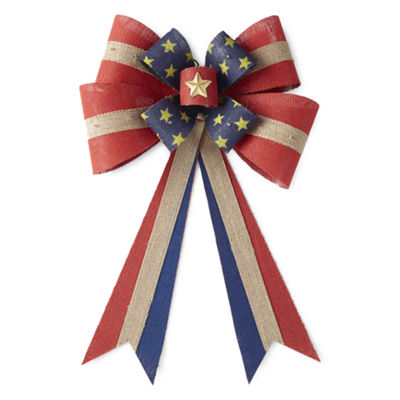 JCPenney Home Americana Burlap Bow Wall Decor