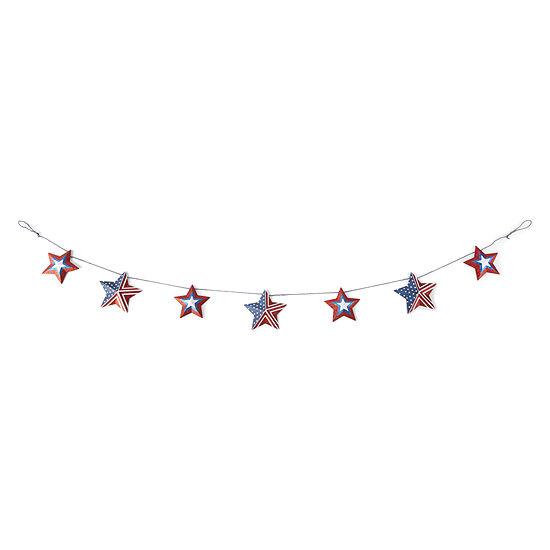 JCPenney Home Americana Glitter Stars Garland