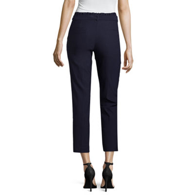89th & Madison Tie Waist Slim Fit Trousers