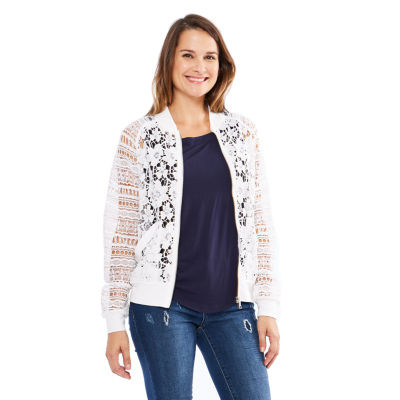 Skyes The Limit St. Barths Lace Bomber Jacket- Plus
