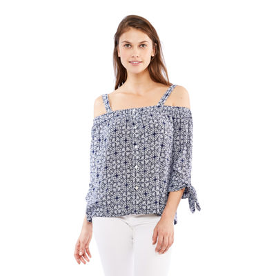 Skyes The Limit St. Barths Off The Shoulder Tie Sleeve Blouse- Plus