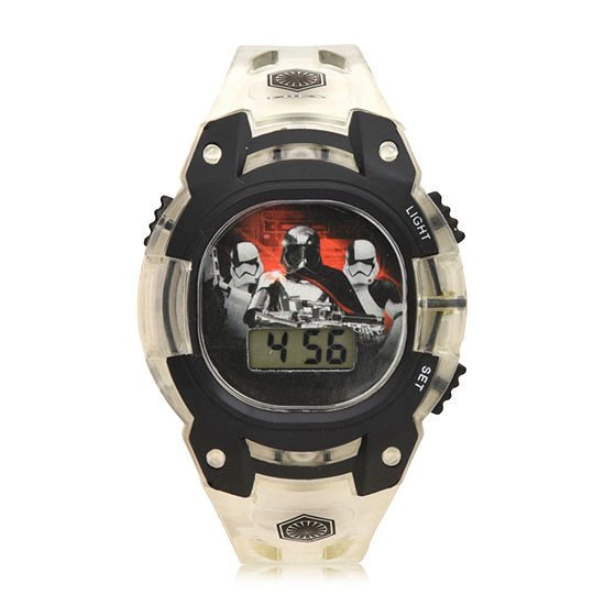 Star Wars Boys White Strap Watch-Swj4038jc