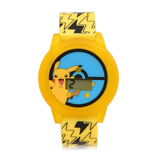 Pokemon Boys Digital Yellow Strap Watch-Pok4126jc