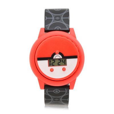 Pokemon Boys Black Strap Watch-Pok4110jc