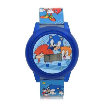 Sonic the Hedgehog Boys Blue Strap Watch-Snc4019jc