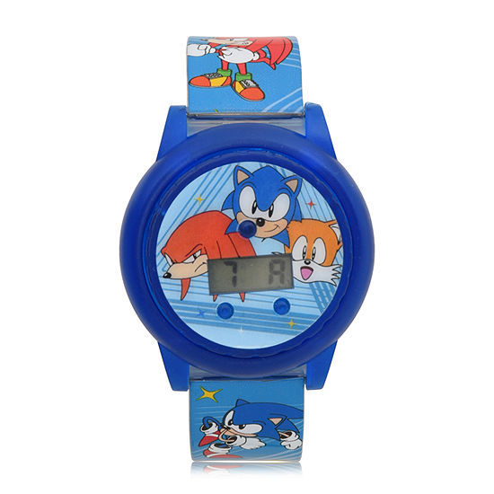 Sonic the Hedgehog Boys Blue Strap Watch-Snc4019jc