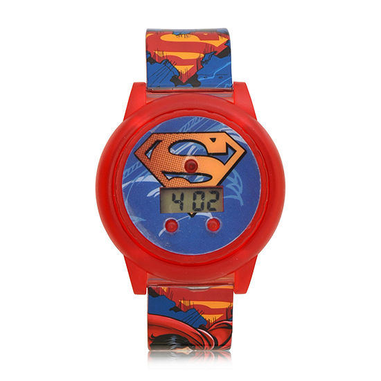 Superman Boys Red Strap Watch-Sup4315jc
