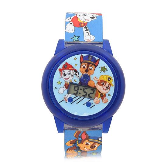 Paw Patrol Boys Digital Blue Strap Watch-Paw4186jc