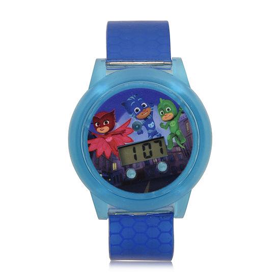 PJ Masks Boys Digital Blue Strap Watch-Pjm4109jc