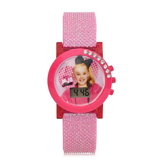 Jojo Siwa Girls Digital Pink Strap Watch-Joj4057jc