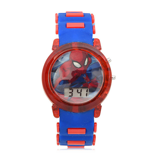 Marvel Spiderman Boys Digital Blue Strap Watch-Spd4464jc