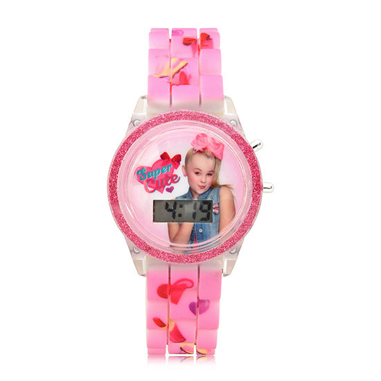 Jojo Siwa Girls Pink Strap Watch-Joj4053jc