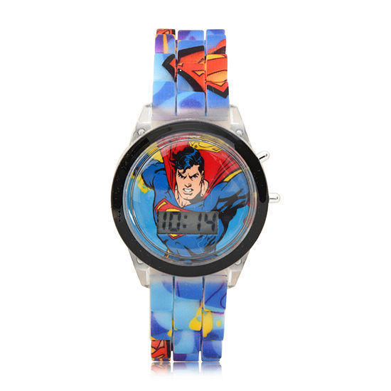 Supergirl Boys Blue Strap Watch Sup4312jc