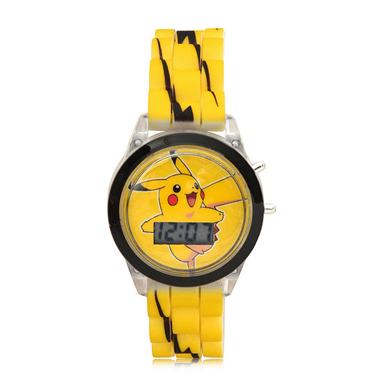 Pokemon Boys Digital Yellow Strap Watch-Pok4106jc