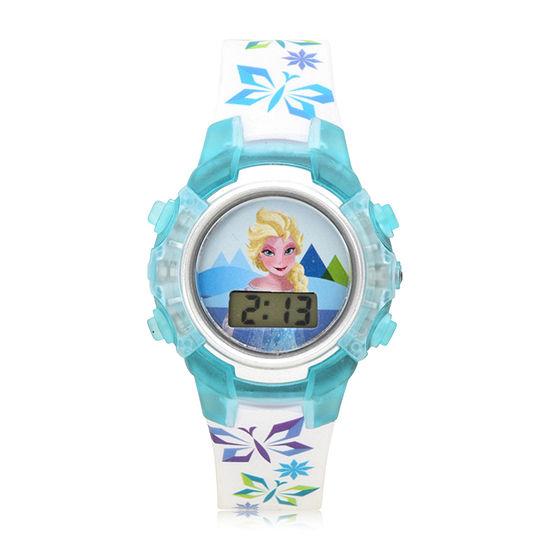 Disney's Frozen Frozen Girls Multicolor Strap Watch-Fzn4103jc
