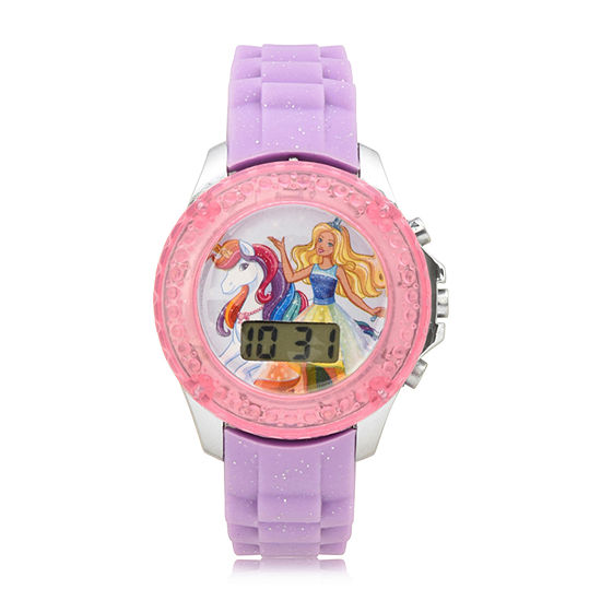 Girls Purple Strap Watch-Bdt4000jc