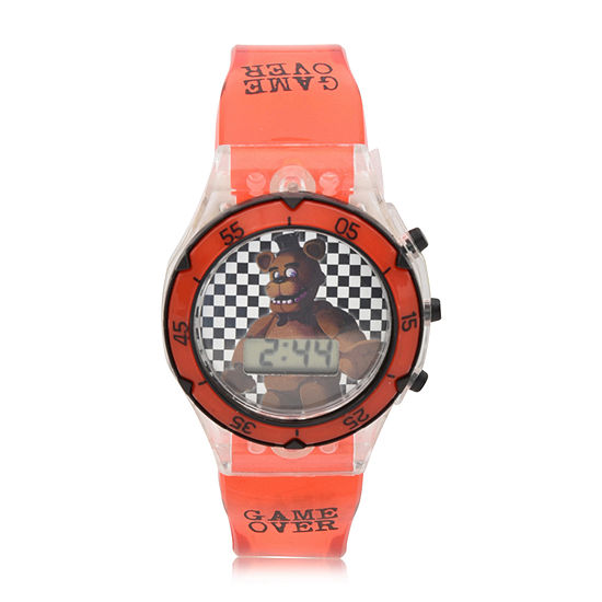 Five Nights at Freddys Boys Digital Red Strap Watch-Fnf4072jc