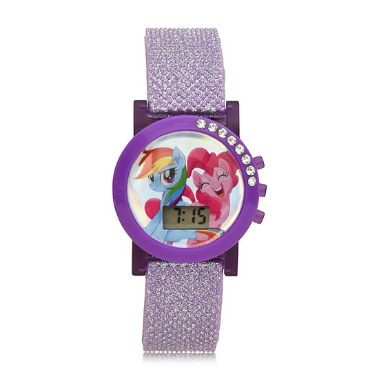 My Little Pony Girls Digital Purple Strap Watch-Mlp4050jc