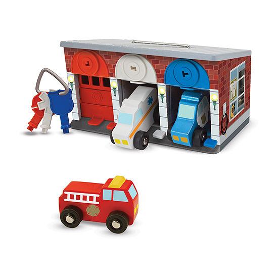 Melissa & Doug Keys & Cars Rescue Garage 8-pc. Car