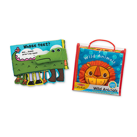 Melissa & Doug K'S Kids Cloth Book Bundle - Animals 2-pc. Discovery Toy