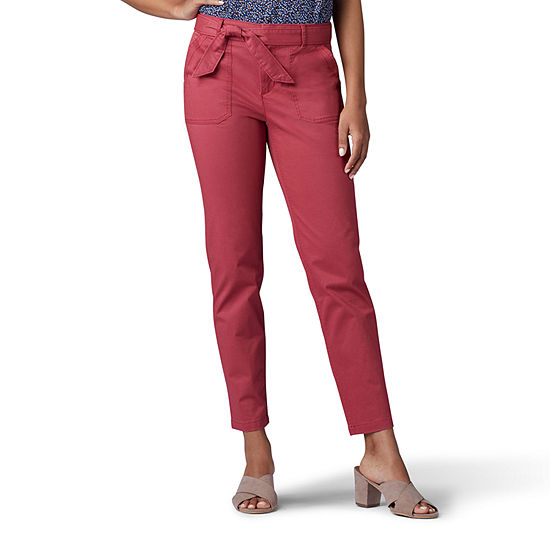 b3f319b4e13 Lee Tie Front Utility Ankle Womens Mid Rise Ankle Pant - JCPenney