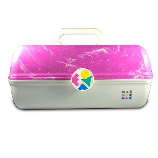 Caboodles Vintage On The Go Girl Pink White