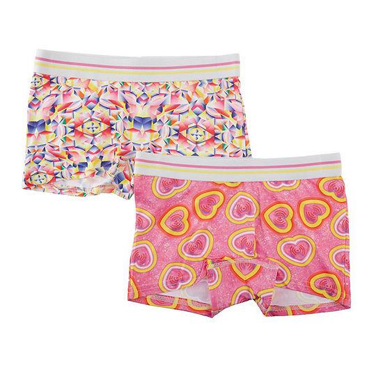 Girls 2 Pair Boyshort Panty-Big Kid
