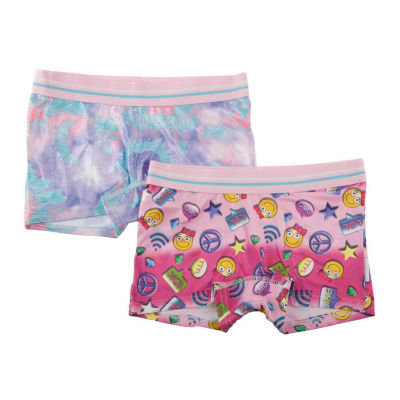 2 Pair Boyshort Panty-Big Kid Girls