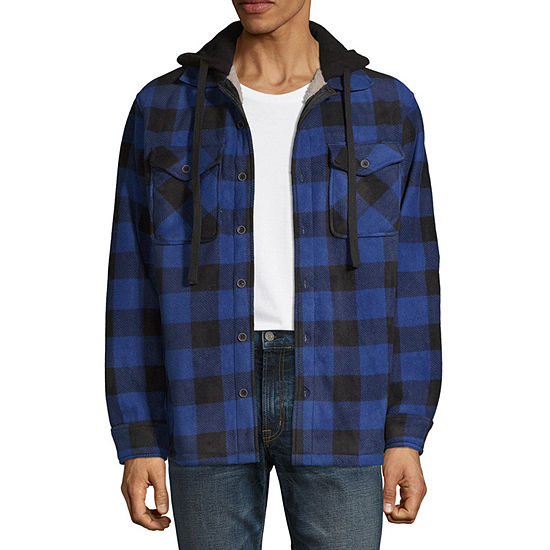 Victory Sherpa Lined Hooded Fleece Shirt Jacket