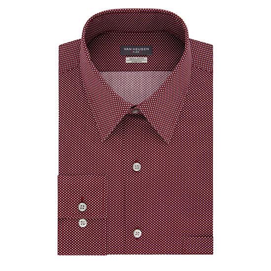 Van Heusen Mens Point Collar Long Sleeve Dress Shirt