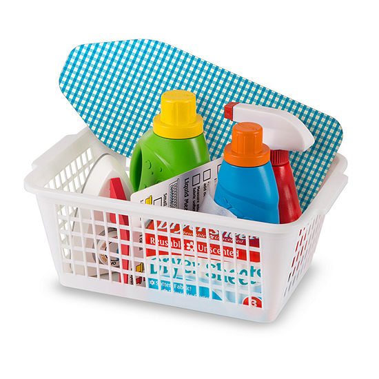 Melissa & Doug Laundry Basket Play Set Housekeeping Toy