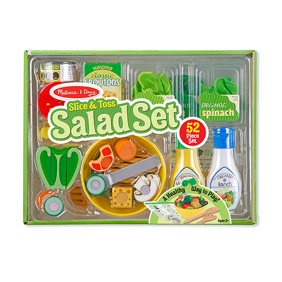 Melissa & Doug Slice & Toss Salad Set Play Food