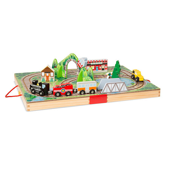Melissa & Doug Take-Along Tabletop Railroad Playset