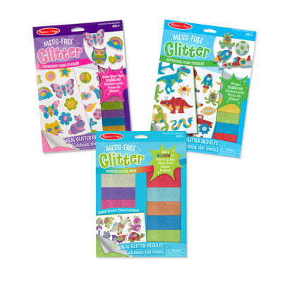 Melissa & Doug 3 Mess-Free Glitter Bundle Craft Kits