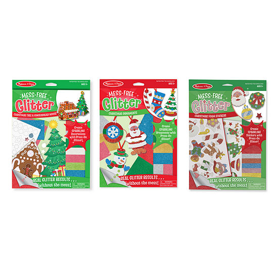 Melissa & Doug 3 Mess Free Glitter Bundle Craft Kits