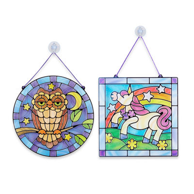 Melissa & Doug 2 Press & Peel Stained Glass Craft Kits