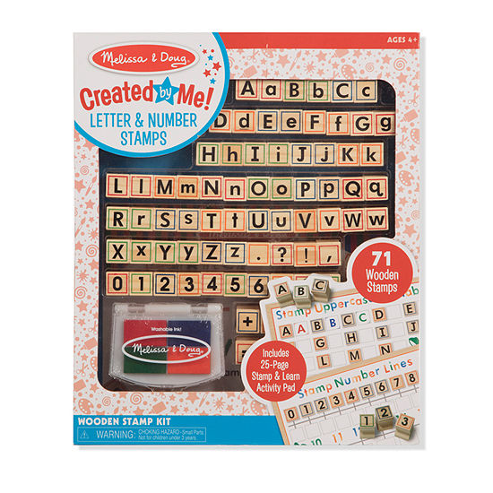 Melissa & Doug Wooden Abc Activity Stamp Set Kids Art Set