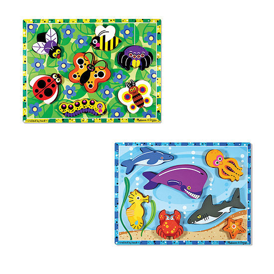 Melissa & Doug Chunky Bundle - Sea Life & Insects 2-pc. Puzzle