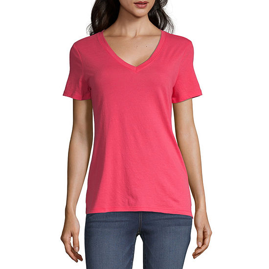 a.n.a Womens V Neck Short Sleeve T-Shirt
