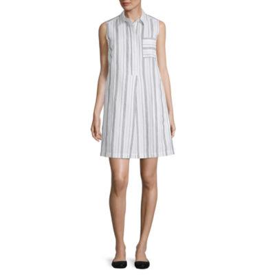 Liz Claiborne Spring Bouquet Sleeveless Shirt Dress